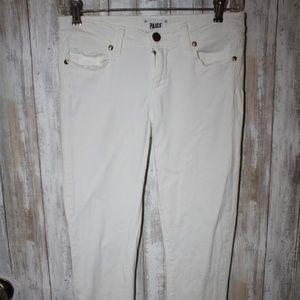 Paige Verdugo Ankle Jeans 26 White Skinny